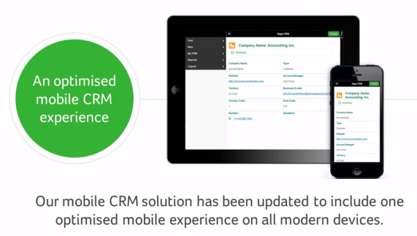 Sage CRM 7.3 Mobile UI Update