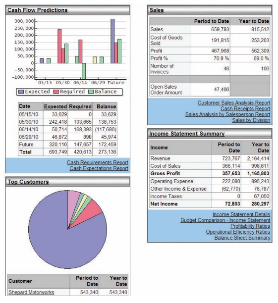 Business Insights Dashboard- Cloud Business Intelligence Reporting