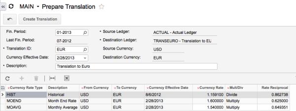 Acumatica Cloud ERP Currency Management Module