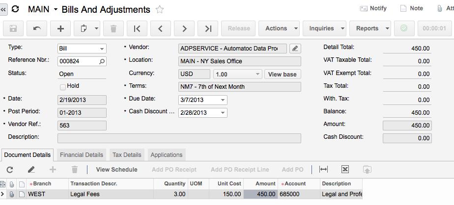 Acumatica Cloud ERP Intercompany Accounting Module