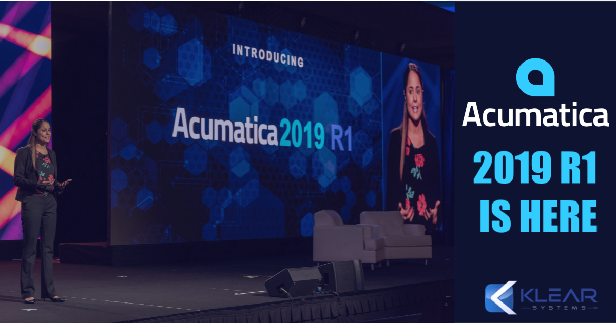 Acumatica Cloud ERP 2019 R1 Product Release