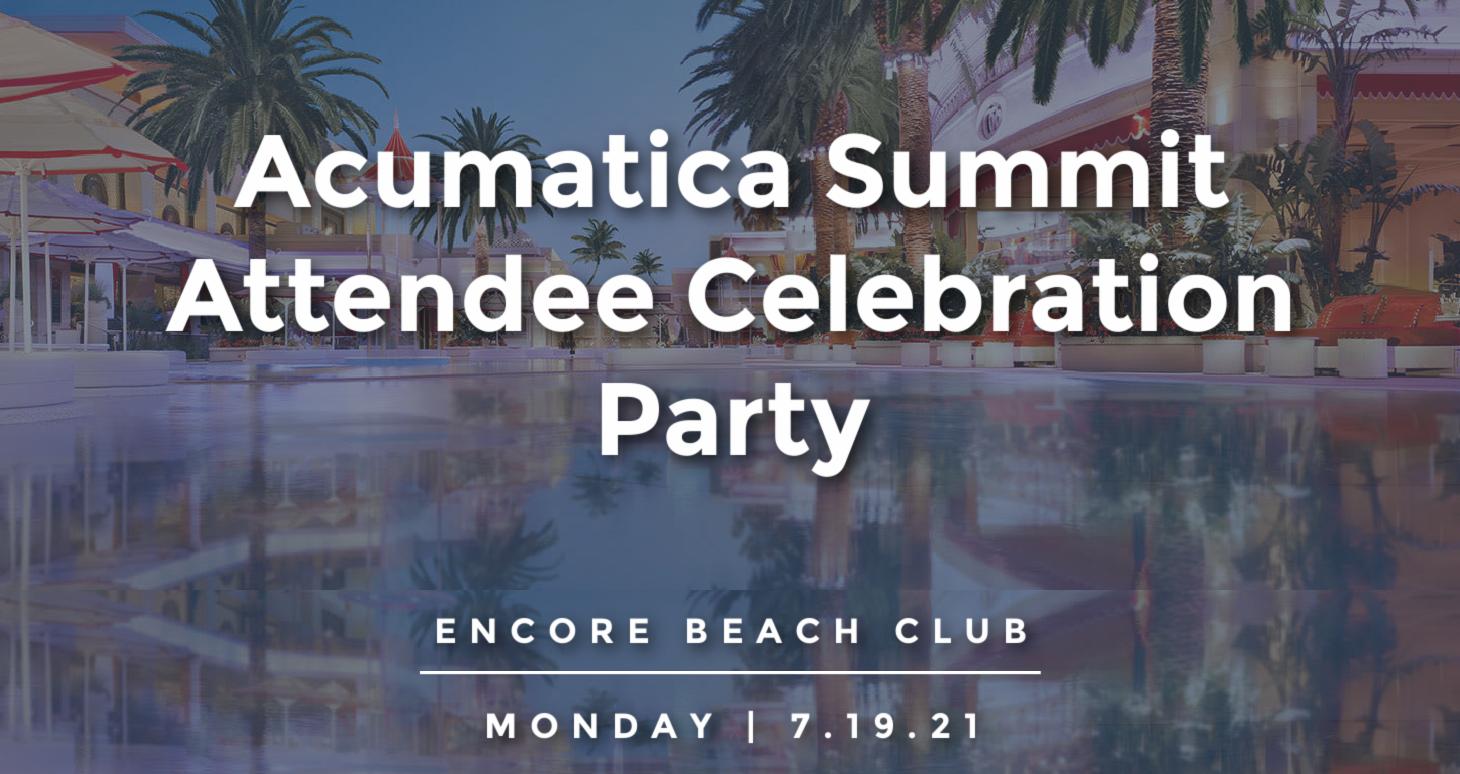Acumatica Summit Attendee Celebration Party
