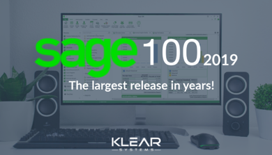 Sage 100cloud 2019 is the largest ERP release in years!