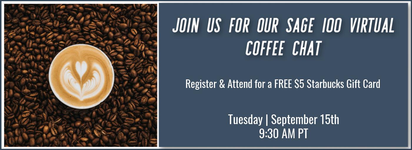 Sage 100 Virtual Coffee Chat Banner