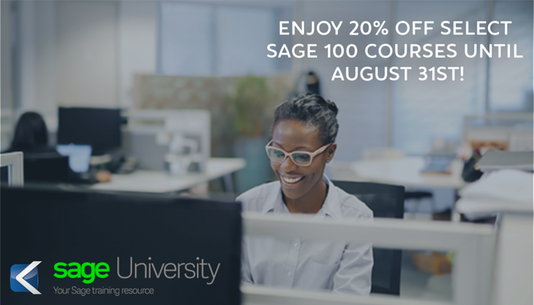 Save on Sage 100 ERP Training Courses with Sage University
