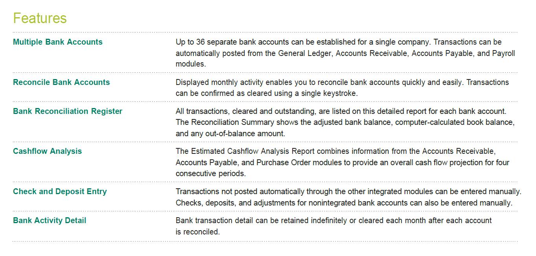 Sage 100 ERP Bank Reconciliation Benefits