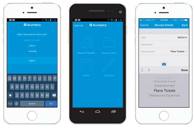 Acumatica Cloud CRM Mobile User Interface