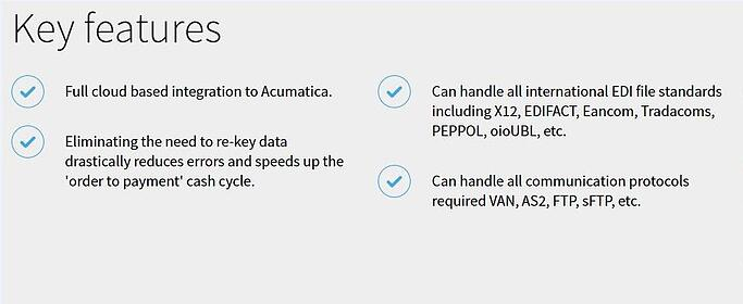B2B Gateway EDI Module for Acumatica Cloud ERP - Southern