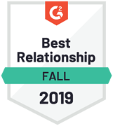 G2 user review - Best Relationship Fall 2019